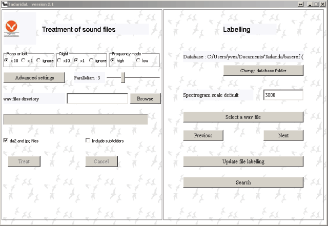 Tadarida: A Toolbox for Animal Detection on Acoustic Recordings