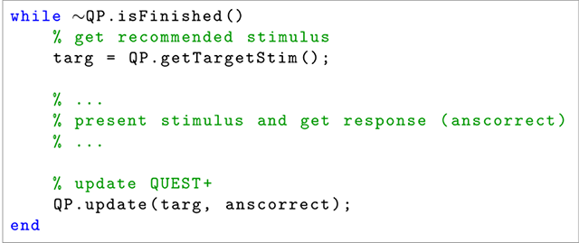 QuestPlus: A MATLAB Implementation of the QUEST+ adaptive